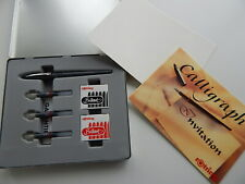 Rotring Calligraphy Master Set Including Pen Ink Nibs Instruction Book Paper