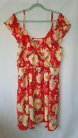 VERY Floral Cold Shoulder Dress Size UK 22 Elasticated Waist
