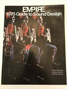 Vintage Brochure Empire Stereo Turntable speaker  1975 Guide Mid Century Modern