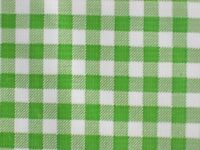 KIWI LIME GREEN GINGHAM CHECK COUNTRY OILCLOTH VINYL SEW CRAFT DECOR FABRIC BTY