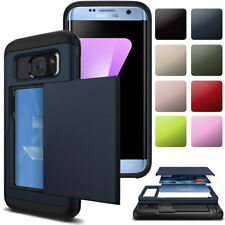 Shockproof Wallet Credit Card Holder Hard Case Cover For Samsung Galaxy Phones
