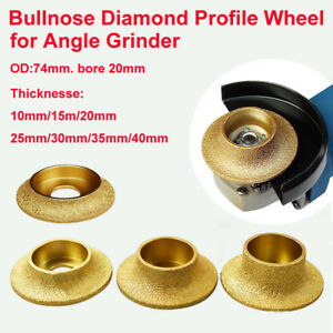 Bullnose Diamond Profile Wheel For Angle Grinder Thicknesse: 10/15/20/25/30/40mm