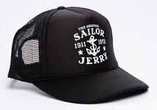 Sailor Jerry Rum My Work Anchor Logo Tattoo Punk Biker Snapback Cap Trucker Hat