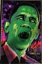 Zombama Original Vintage Black light Poster Zombie Obama Rare