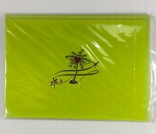 Burgoyne Handmade Greeting - Palm Tree Blank Note Card - NEW