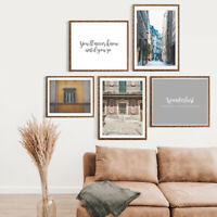 Gallery Wall Home Prints A4,City Escapes, 1-5 PICTURES-NO FRAME