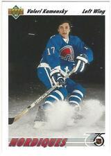 VALERI KAMENSKY 1991-92 Upper Deck ROOKIE ENGLISH #273 NMMT NHL Quebec Nordiques