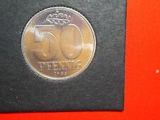 50 Pfennig Pf. 1986 A DDR in Stempelglanz Stgl. st Exp. im Münzrähmchen n. J1512