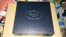 NEW PRADA LARGE SQUARE SHIRT STORAGE GIFT BOX TISSUE PAPER BLACK SILVER