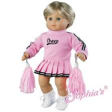 """Pink Cheerleader for 15"""" Bitty Baby American Girl Doll fits 18"""" doll too CHEER"""