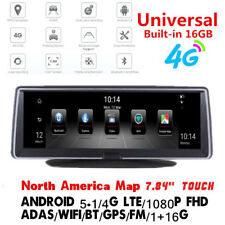 7.84''HD Full Touch IPS 4G ADAS Android Car GPS Navigation DVR Recorder Dash Cam