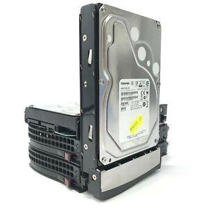 "Job Lot 4x 3.5"" Toshiba MG03SCA100 1TB SAS Hard Drives With Caddies"