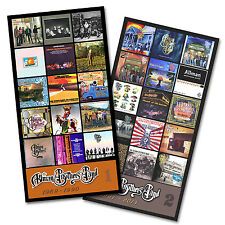"""ALLMAN BROTHERS BAND twin pack discography magnet set (two 5.5"""" x 3.75"""" magnets)"""