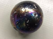 Very Large Iridescent Vintage Glass Marble - Approx 4cm DIA