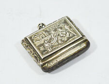 ANTIQUE CHINESE EXPORT SILVER SNUFF BOX BY LEE CHING HONG KONG