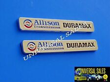 PAIR ALLISON TRANSMISSION DURAMAX CHROME EMBLEM SILVERADO SIERRA HOOD NEW 6 1/8