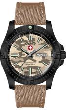 CX Swiss Military DESERT STORM 3102, Swiss Made Dive Watch, DD, 200m, 42mm NEW