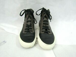Vince Camuto Black and Gray Leather High Top Sneakers Size 8