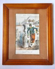 Lithographie aquarellée originale du XIXème d' Eugène Ladreyt, Galerie Militaire