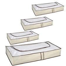 4 x Unterbett Kommode Aufbewahrung m. Reißverschluss Unterbett Box Kleidersack