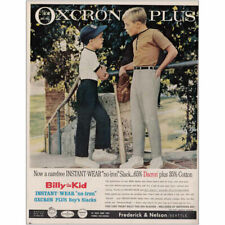 1966 Billy the Kid Clothes: Instant Wear No Iron Slack Vintage Print Ad