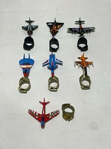 1988 Matchbox Ring Raiders Toy Planes Jets Lot of 7 One Missing Mount Bar