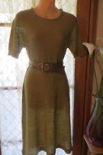 Knee Length Sheath Dresses Women with Belt