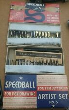 Vintage Speedball No. 5 Artist Set for Lettering and Drawing Hunt Mfg. Co # 3065
