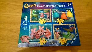 Clangers Ravensburger Puzzle Jigsaw 4 in a Box 3+
