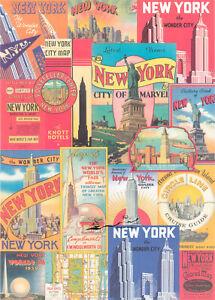 Geschenkpapier Bogen New York  / G3
