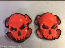 MOTRAX Motorcycle/Motorbike Protection Knee Slider Skull Red as Pair