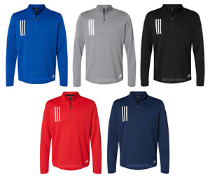 ADIDAS GOLF - Double Knit Quarter-Zip Pullover- Moisture Wicking Performance Top