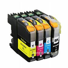 4pk LC203 LC-203XL Ink Set For Brother LC201 MFC-J460DW MFC-J480DW MFC-J485DW