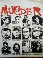 Serial Killer Murder  Gacy, Manson, Mengele white canvas back patch