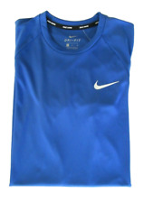 Nike Dri-fit Mens M Game Royal UPF 40 Essential Hydroguard Swim Tee