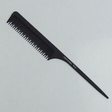 2pc Black Fine-tooth Hair Pick Comb Pin Tail Comb Brush Anti-static Styling Tool