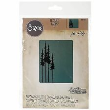 Sizzix Texture Fades A2 Embossing Folder Tall Pines by Tim Holtz 630454229285