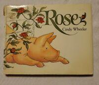 Vintage Pig Book Rose Cindy Wheeler Hardcover Original RARE