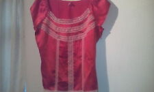 Pure Silk Limited Collection Flame pretty blouse size 20