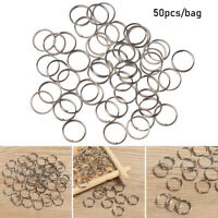 Steel Alloy Keychain Ring Pendant Gadget Keyring Circle Loop Key Hooks
