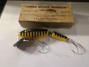 Rare Vintage Lemaster L & S Jumbo Shiner Minnow fishing lure w/box