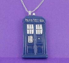 TARDIS STYLE NECKLACE doctor who emo scene geek kitsch retro sci fi space
