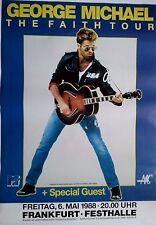 GEORGE MICHAEL  1988  Frankfurt  +  ORIGINAL Concert Poster - Plakat  A1  NEU
