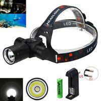 Wasserdicht 100m 6000Lm XM-L T6 Tauch Scheinwerfer-Kopf-Licht Taschenlampe LED
