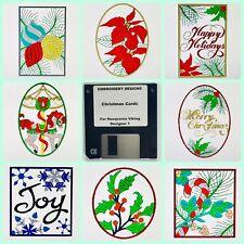 Christmas Greeting Cards Embroidery Designs Disk for Husqvarna Viking Designer 1
