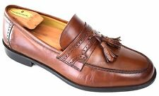 J MURPHY Johnston & Murphy Men's Size US8.5 Brown Leather Tassel Dress Loafers