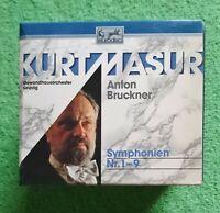 Bruckner: Le 9 Sinfonie / Kurt Masur - Box 10 CD, BMG 1990