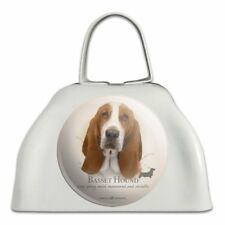 Basset Hound Dog Breed White Metal Cowbell Cow Bell Instrument