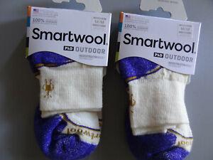 NEW 2 Pairs SmartWool PhD Outdoor Lightweight Merino Wool Ankle Socks Women's M