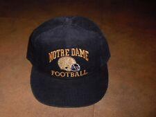 Notre Dame hat VINTAGE snapback corduroy mint NCAA DI RaRe cap cord Irish ND